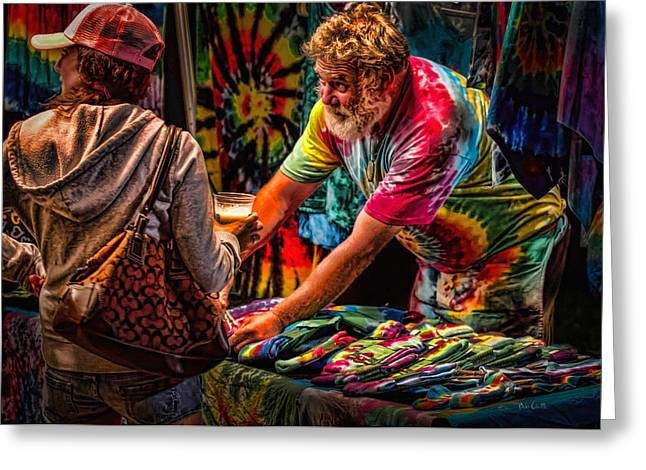 Tie Dye Guy Greeting Card by Bob Orsillo