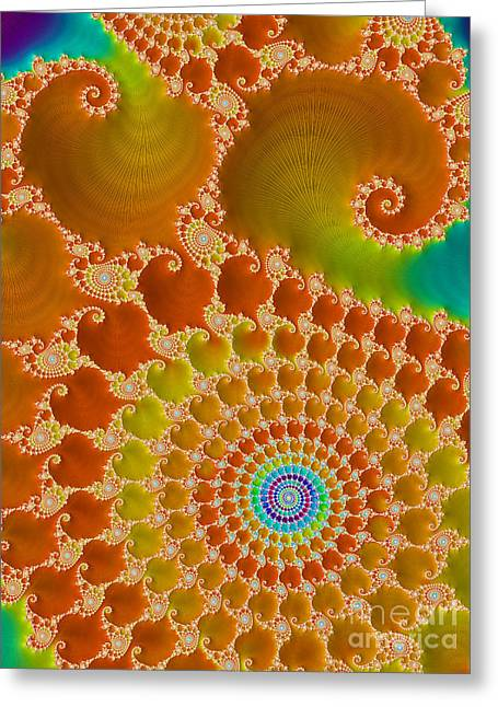 Trance Greeting Cards - Tie Dye  Greeting Card by Heidi Smith