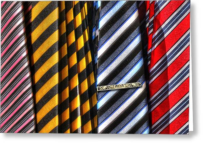 Black Tie Greeting Cards - Tie One On Greeting Card by Paul Wear
