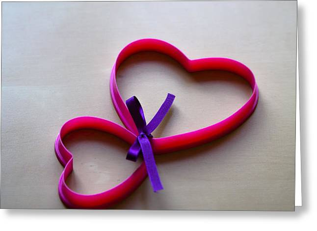 Tied To You Greeting Card by Jan Bickerton