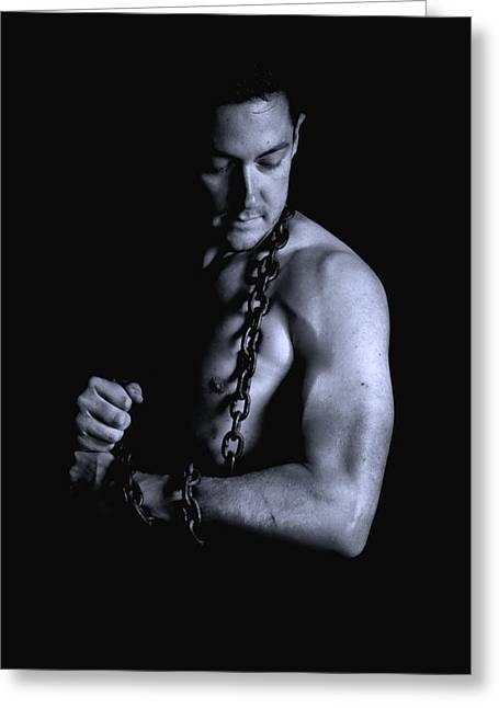 Raunchy Greeting Cards - Tied up Greeting Card by KJ Bruce - Infinity Fusion Art