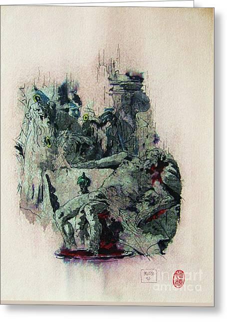 Tiepolos  Death Of Seneca Greeting Card by Roberto Prusso