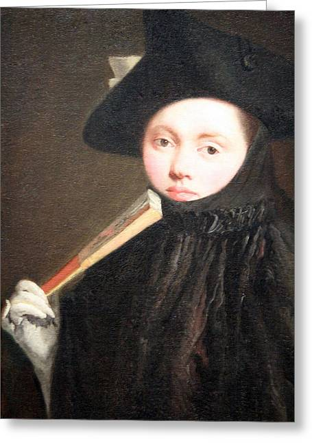 Lady Washington Greeting Cards - Tiepolos Young Lady In A Tricorn Hat Greeting Card by Cora Wandel