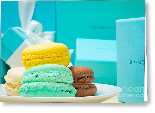 Engagement Ring Greeting Cards - Tiffany and Company French Macaron Greeting Card by Jonas Luis