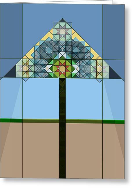 """indoor"" Still Life Digital Art Greeting Cards - Tiffany Lamp Greeting Card by Roger Bushman"