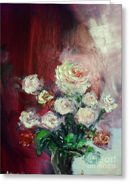 Laurie D Lundquist Greeting Cards - Tiffany Roses Greeting Card by Laurie D Lundquist