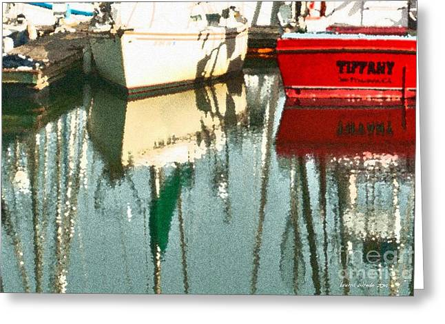 Moss Landing Boats Greeting Cards - Tiffany Sailed From San Francisco to Moss Landing Greeting Card by Artist and Photographer Laura Wrede