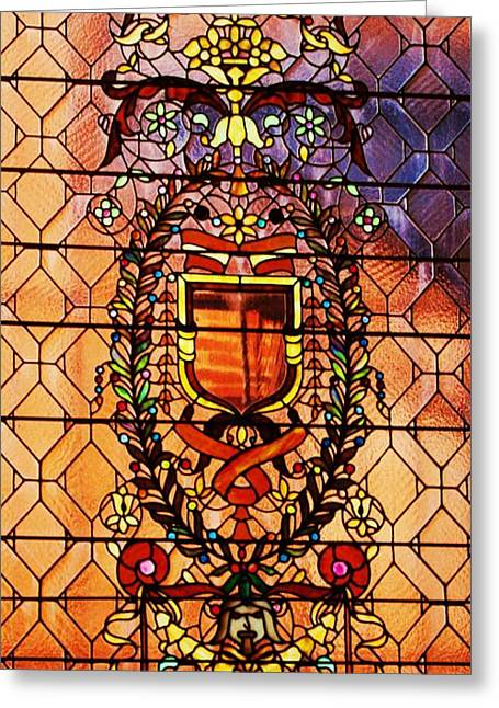 Geometric Art Greeting Cards - Tiffany Stained Glass 2 Greeting Card by Marcus Dagan
