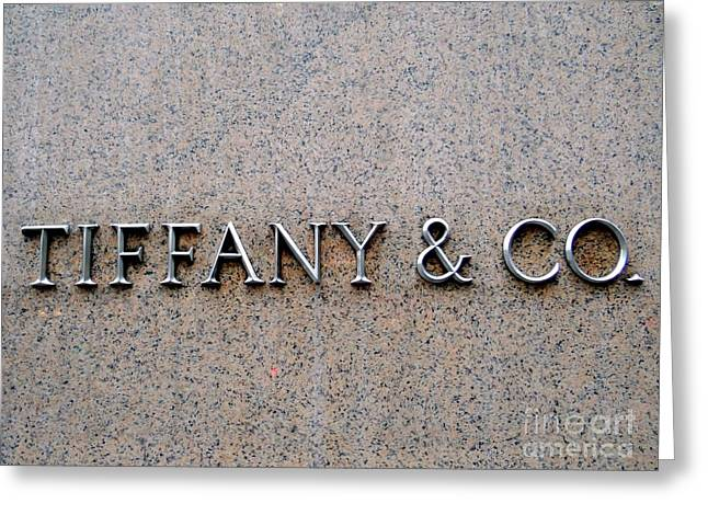 Capote Greeting Cards - Tiffanys New York City Greeting Card by Ed Weidman