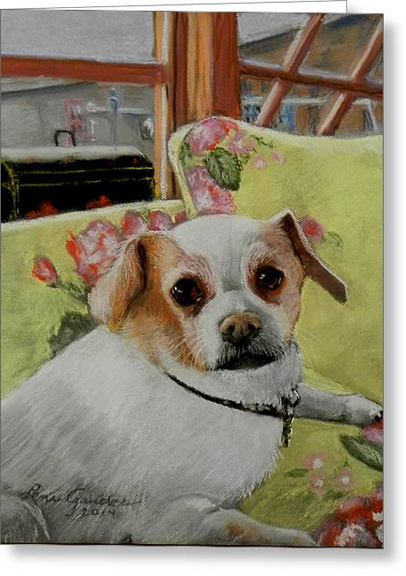 Small Dog Pastels Greeting Cards - Tiffi the chihuahua Greeting Card by Lenore Gaudet