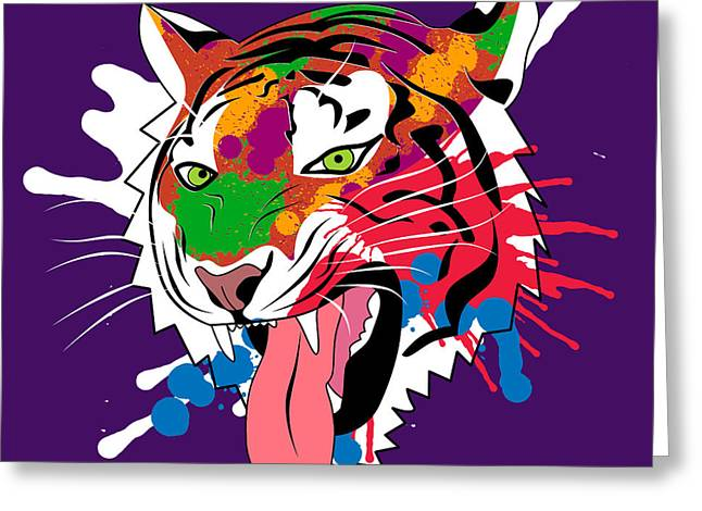 Cool Lion Greeting Cards - Tiger 11 Greeting Card by Mark Ashkenazi