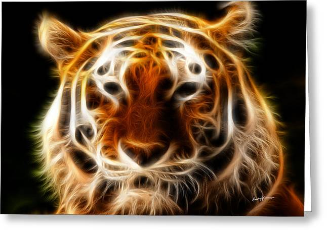 Anthony J Caruso Greeting Cards - Tiger Greeting Card by Anthony Caruso