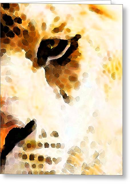 Penn Digital Art Greeting Cards - Tiger Art - Pride Greeting Card by Sharon Cummings