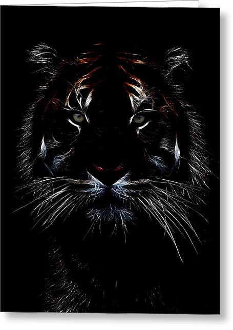 Jaguars Greeting Cards - Tiger Coming Out Greeting Card by Athena Mckinzie