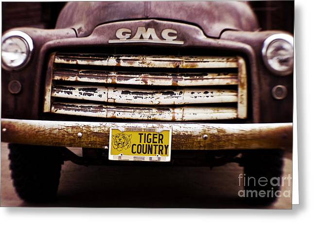 Old Truck Photography Greeting Cards - Tiger Country - Purple and Old Greeting Card by Scott Pellegrin