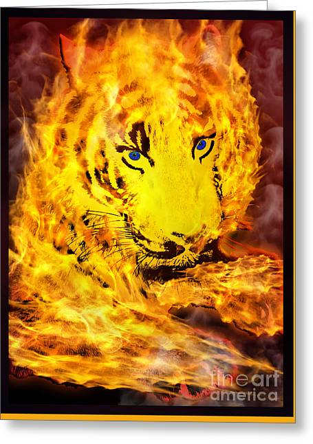 Wildlife Celebration Greeting Cards - Tiger for Sale Greeting Card by Gary Keesler