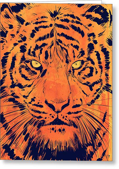Tiger Greeting Card by Giuseppe Cristiano