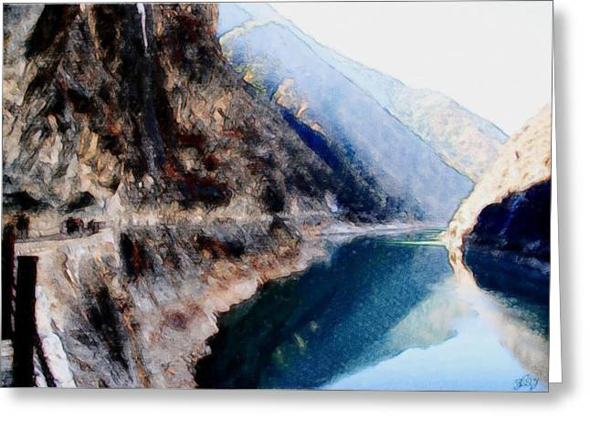 Deep River County Park Greeting Cards - Tiger Leaping Gorge 2 Greeting Card by Lanjee Chee