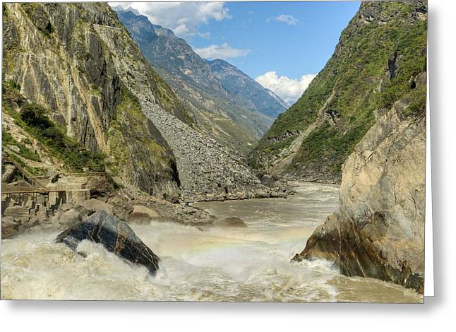 Tiger Leaping Gorge Greeting Card by Ray Devlin