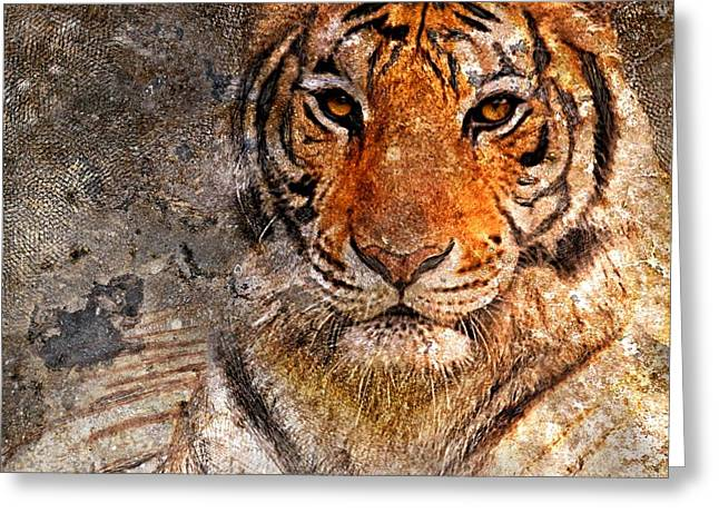 Enjoying Greeting Cards - Tiger Life Greeting Card by Yury Malkov