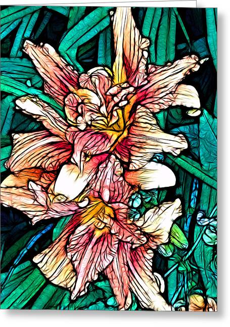 Tiger Lily Greeting Card by Jeff Iverson