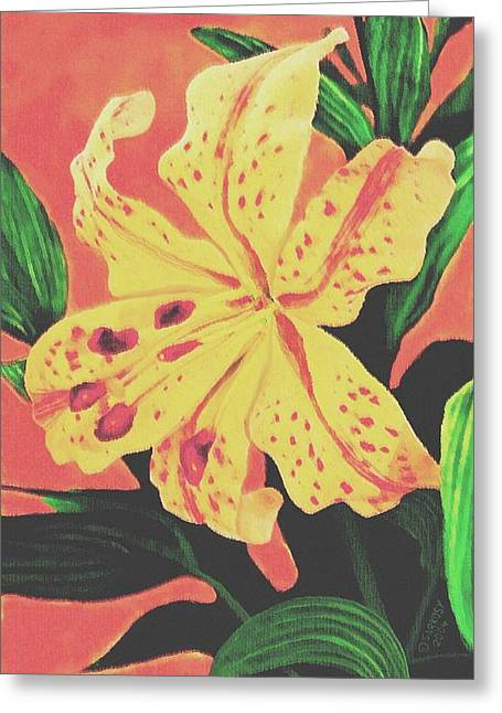 Sophiaart Gallery Greeting Cards - Tiger Lily Greeting Card by SophiaArt Gallery