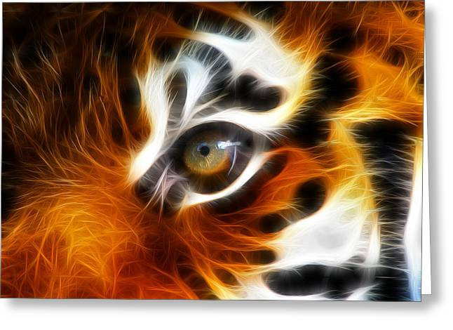 Cool Lion Greeting Cards - Tiger  Greeting Card by Mark Ashkenazi