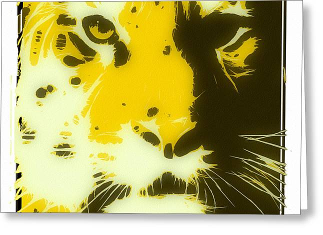 Tilly Art Greeting Cards - tiger Oranage Greeting Card by Tilly Williams