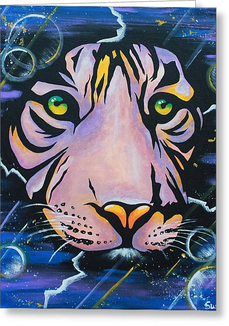 Tiger Dream Greeting Cards - Tiger Greeting Card by Susanne Fagan