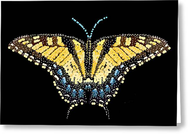 R Allen Swezey Greeting Cards - Tiger Swallowtail Butterfly Bedazzled Greeting Card by R  Allen Swezey