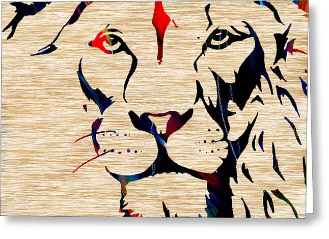 Tiger Greeting Cards - Lion The Hunt For Survival Greeting Card by Marvin Blaine
