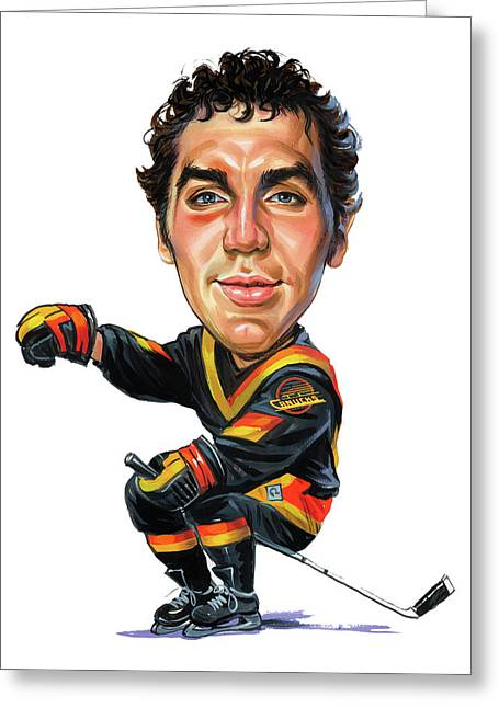 Hockey Paintings Greeting Cards - Tiger Williams Greeting Card by Art