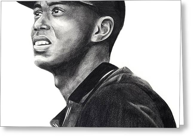 Tiger Woods Driven Greeting Card by Devin Millington
