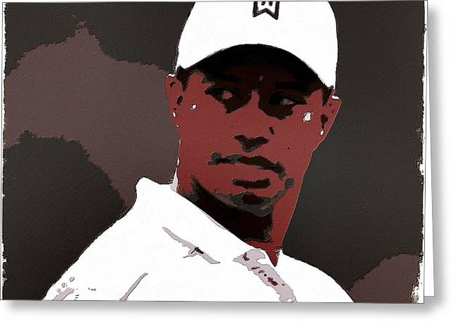 Tiger Woods Greeting Cards - Tiger Woods Poster Art Greeting Card by Florian Rodarte