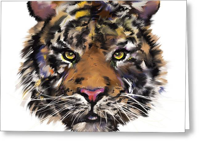 Chinese Tiger Greeting Cards - Tigress Greeting Card by Lauren Heller