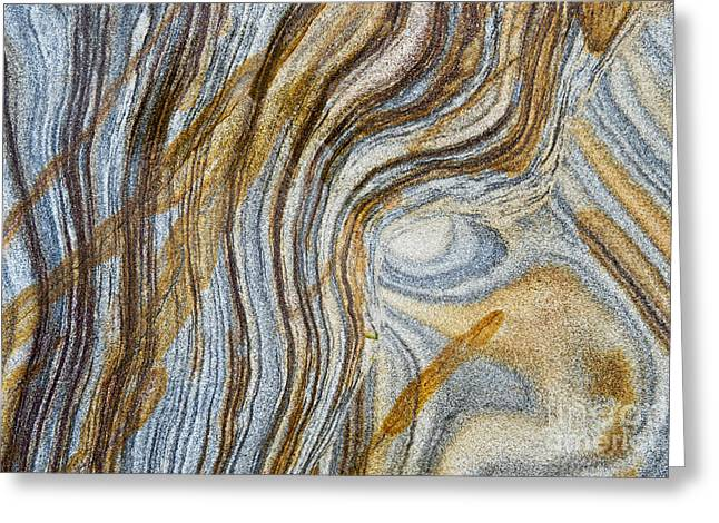 Eroded Greeting Cards - Tigers Eye Greeting Card by Tim Gainey