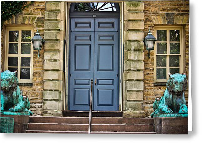 Nassau Greeting Cards - Tigers of Nassau Hall Greeting Card by Colleen Kammerer