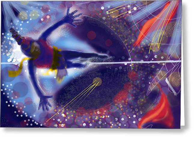 Tightrope Greeting Cards - Tightrope Tiptoe Greeting Card by Colleen Proppe