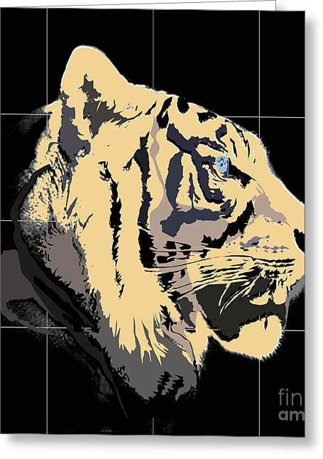 Dressing Room Digital Art Greeting Cards - Tigre De Bengal Greeting Card by Roby Marelly