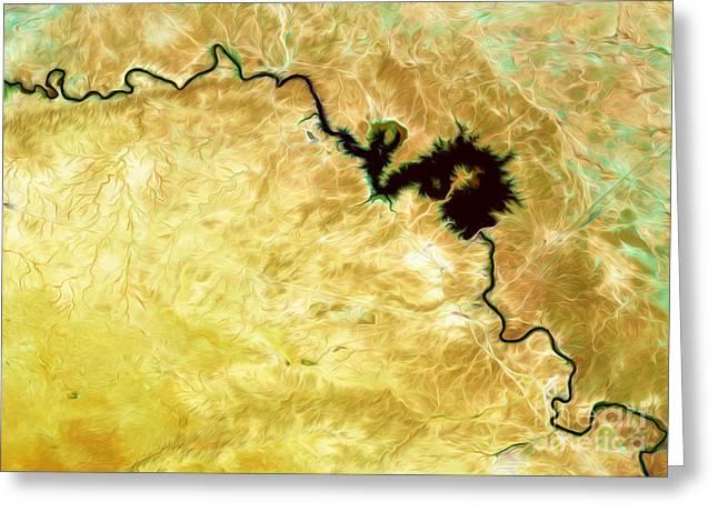 Iraq Greeting Cards - Tigris River Iraq Greeting Card by Phill Petrovic