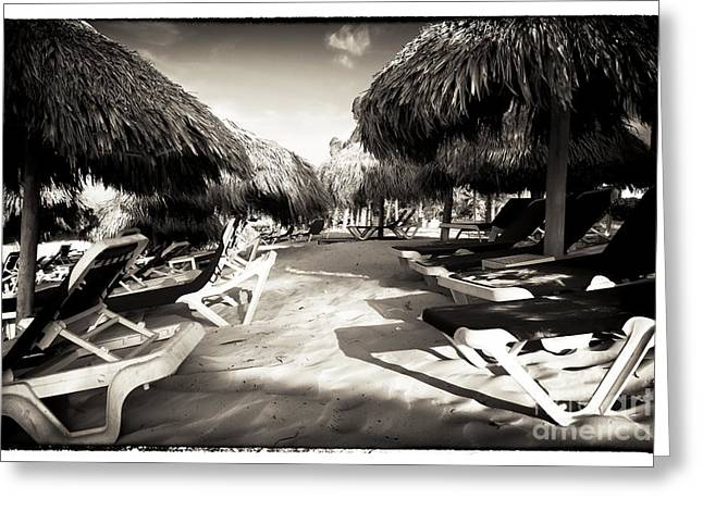 Caribbean Corner Greeting Cards - Tiki Corner Greeting Card by John Rizzuto