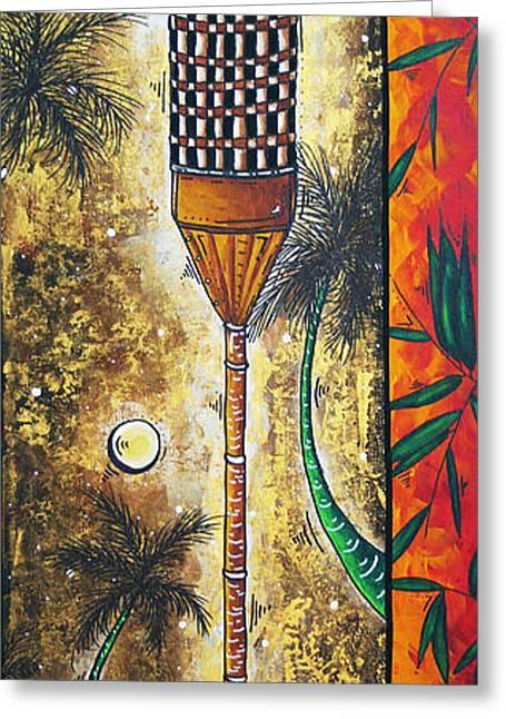 Sunset Prints Greeting Cards - Tiki Dreams by MADART Greeting Card by Megan Duncanson