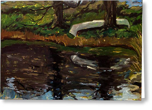 Canoe Paintings Greeting Cards - Til Canoe Time Greeting Card by Charlie Spear