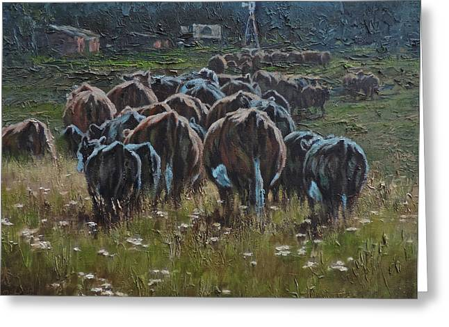 Til The Cows Come Home Greeting Card by Mia DeLode