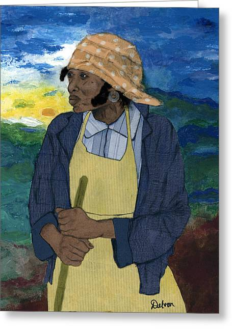 African American History Mixed Media Greeting Cards - Til The Storm Passes Greeting Card by Delvon