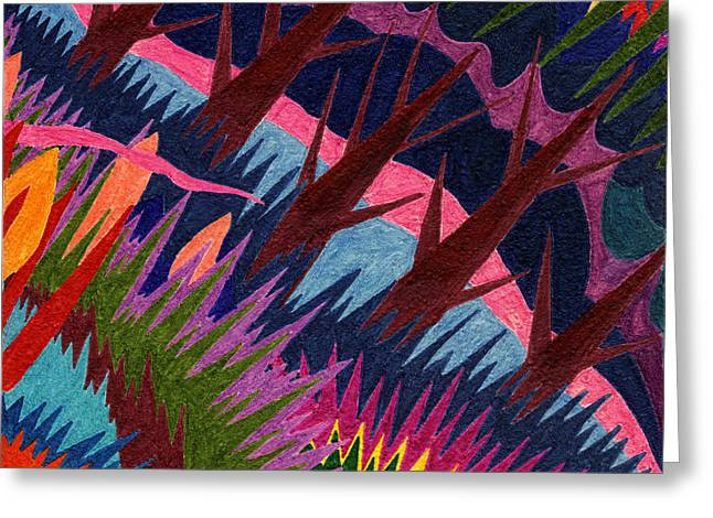 Tile 37 - These Woods Are Lovely Greeting Card by Sean Corcoran