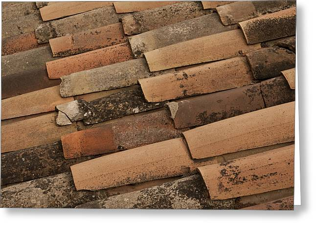 Southern France Greeting Cards - Tile Roof of Gordes Greeting Card by Karma Boyer
