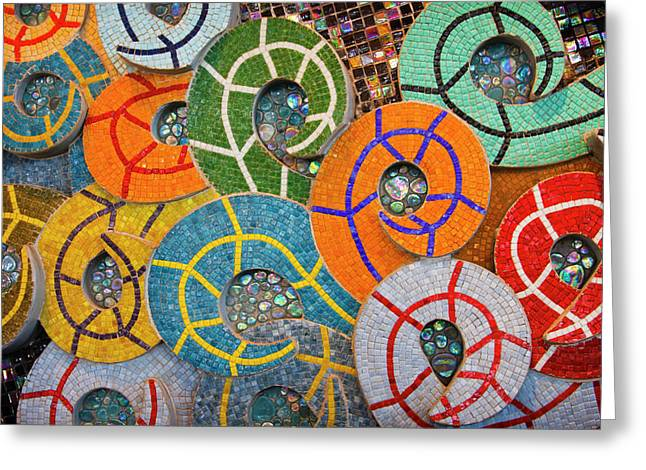 Wall Art Sculptures Greeting Cards - Tiled Swirls Greeting Card by Adam Romanowicz