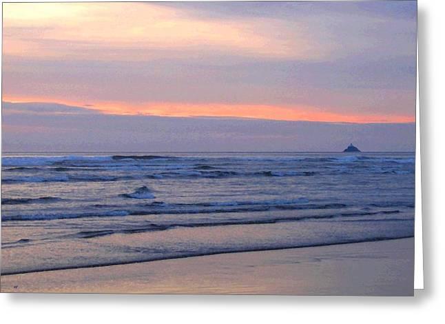 Tillamook Rock Lighthouse Greeting Cards - Tillamook Lighthouse Painting Greeting Card by Will Borden