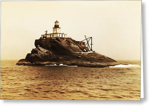 Tillamook Rock And Lighthouse Greeting Card by Bill Cannon